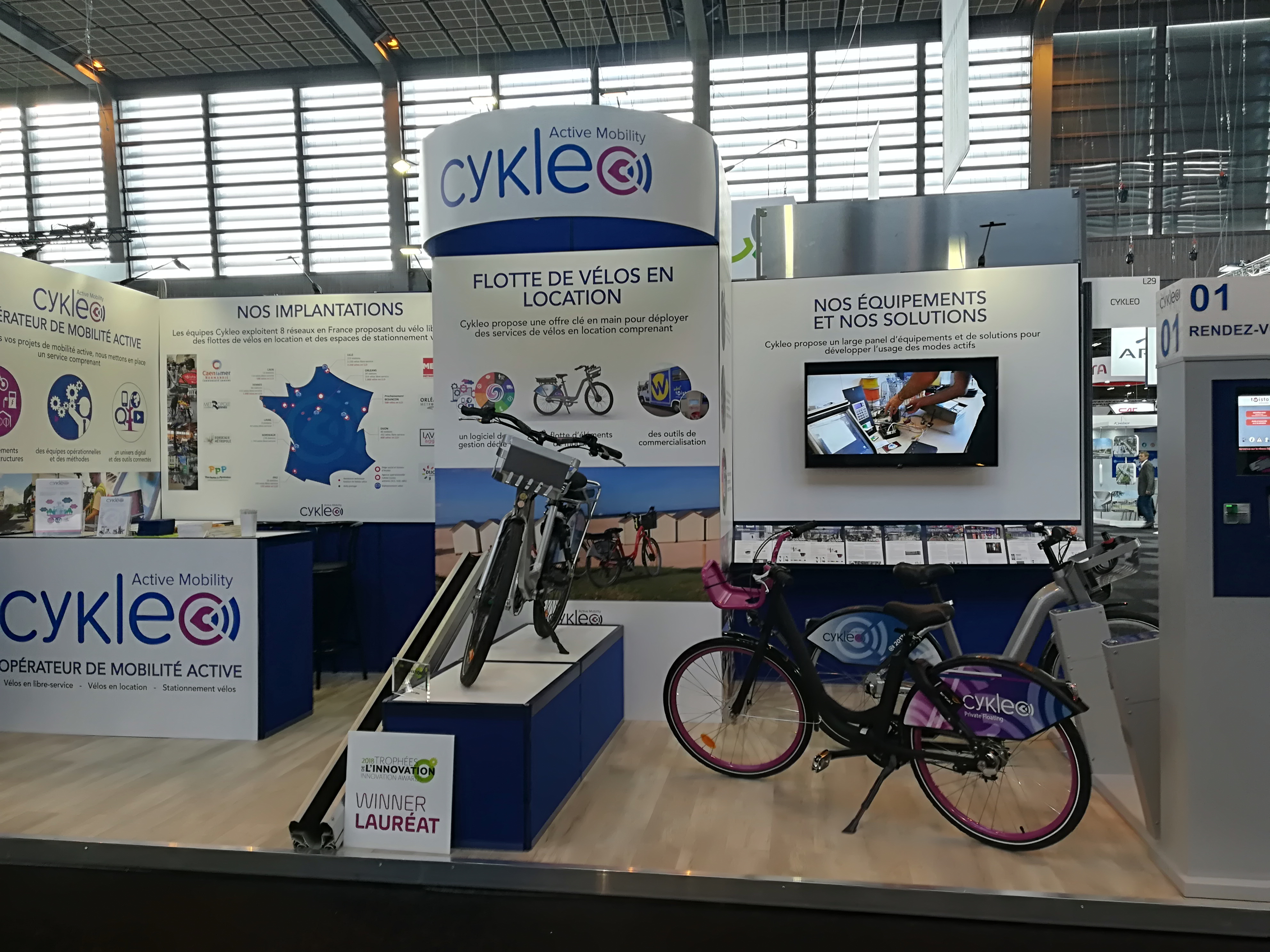 Stand Cykleo salon Transports Publics