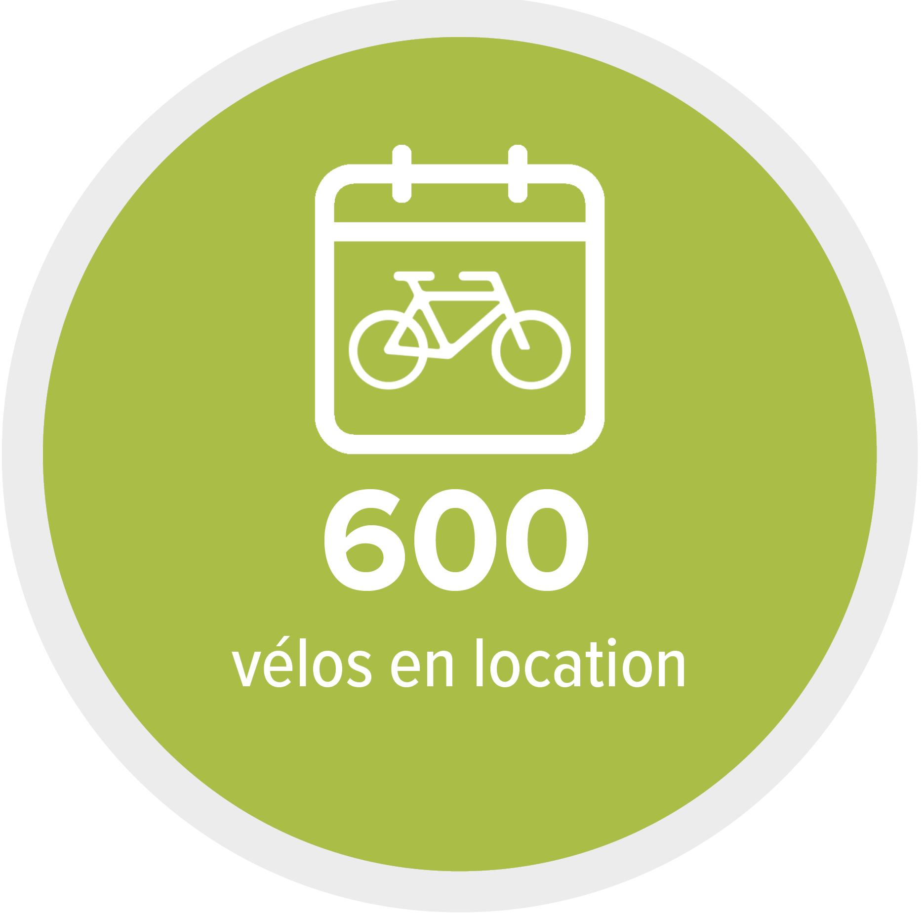 6000 vélos en location