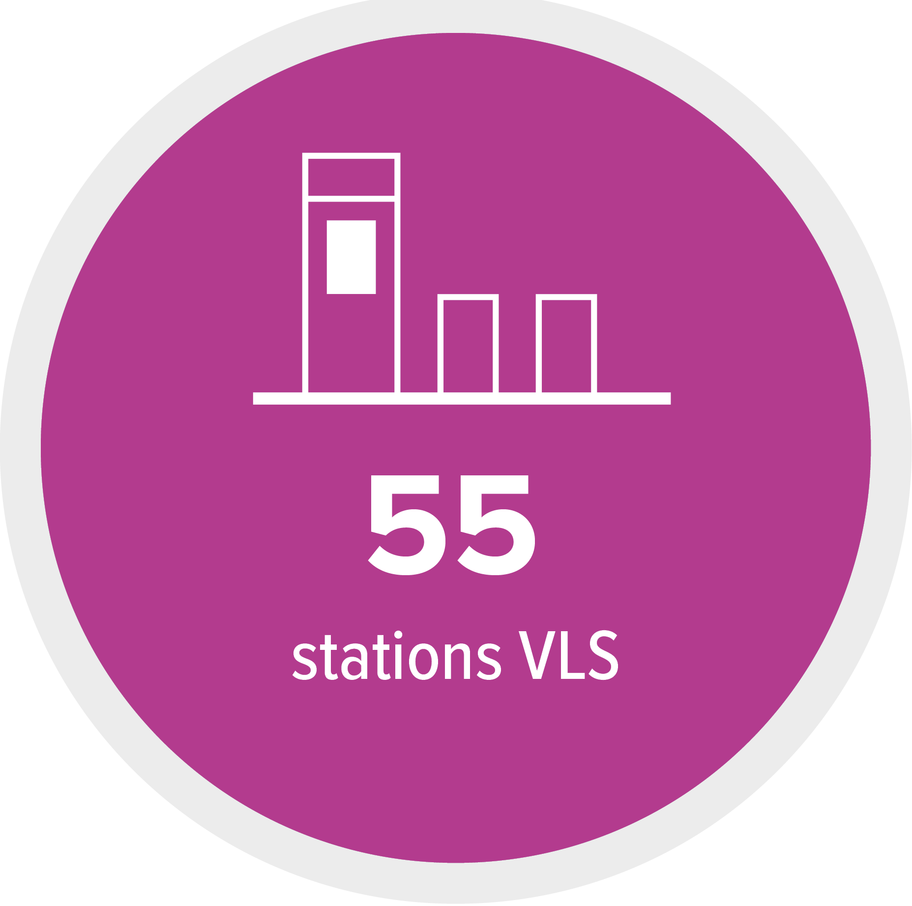 55 stations
