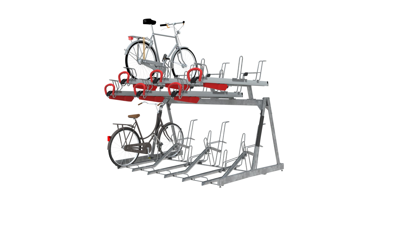 accroche vélo double étage