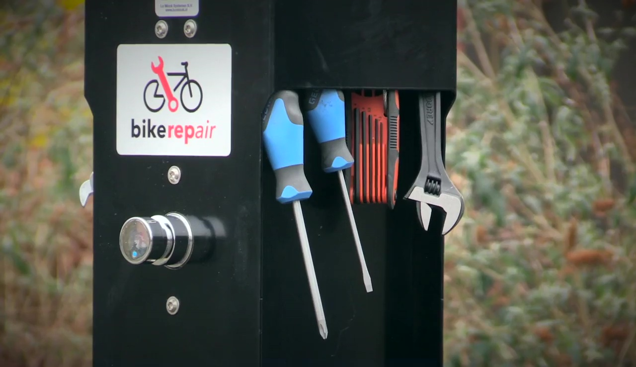 station d'entretien vélo