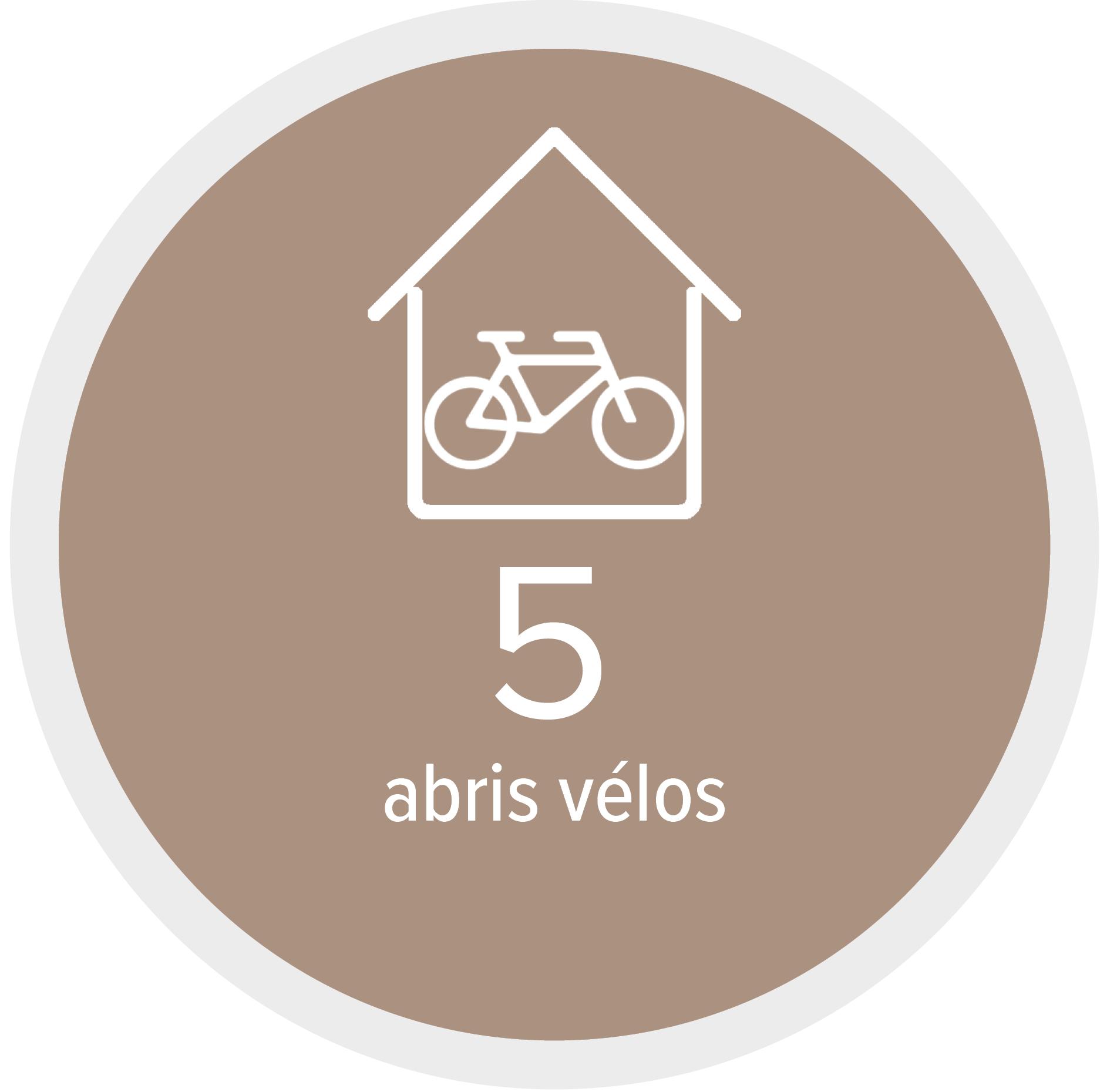 5 abris vélos